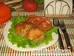 Котлеты мясные с тыквой, запеченные в духовке