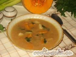 Суп с тыквой и говядиной